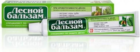 Зубная паста с экстрактами лекарственных трав и облепиховым маслом
